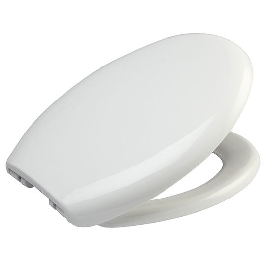 MDF Toilet Seat CP Hinge White