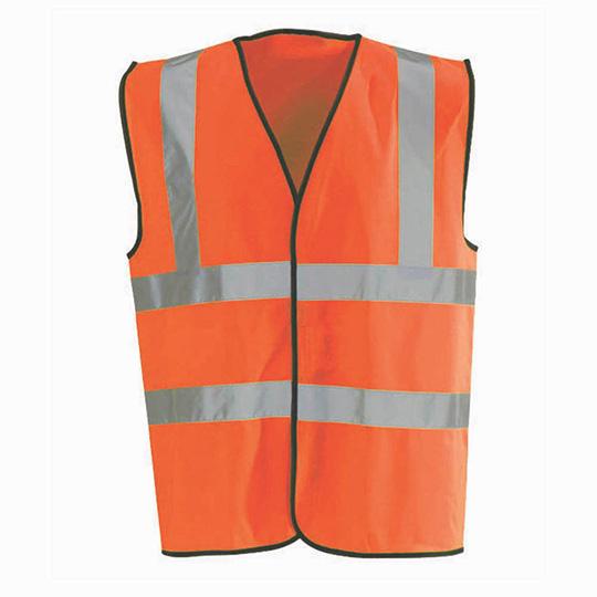 Hi-Vis Waistcoat Fluorescent Scotchtape Orange XXL