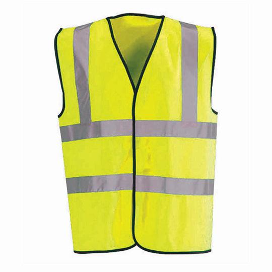 Hi-Vis Waistcoat Fluorescent Scotchtape Yellow XL