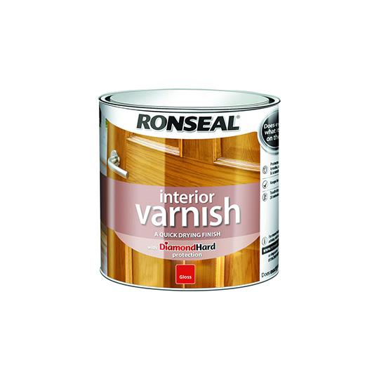 Ronseal Diamond Hard Interior Varnish Gloss Clear 250ml