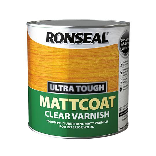 Ronseal Ultra Tough Clear Varnish Matt Coat 2.5L