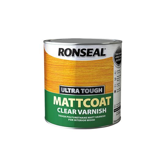 Ronseal Ultra Tough Clear Varnish Matt Coat 250ml