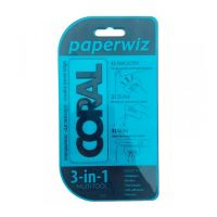 CORAL Paperwiz-3in1 W/paper Tool Trans-Strght Edge