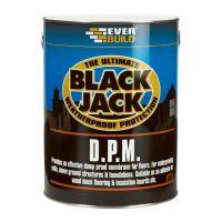 Everbuild Black Jack Bitumen Damp Proofing Membrane Black 5L