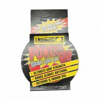 Mammoth Powerful Grip Double Sided Tape 25mm x 2.5m Roll