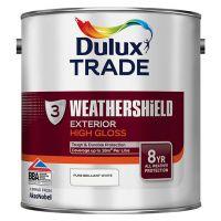 Dulux Trade Weathershield Exterior High Gloss Pure Brilliant White 2.5L