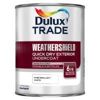 DULUX Trade Weathershield Ext Q/D Undercoat 1L B/White