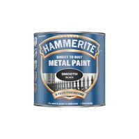 Hammerite Metal Paint Smooth Finish Black 250ml
