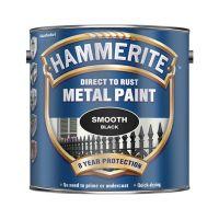 Hammerite Metal Paint Smooth Finish Black 2.5L