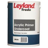 Leyland Trade Acrylic Primer Undercoat Paint White 5L