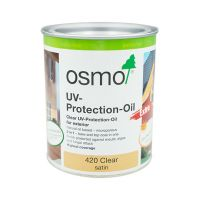 Osmo UV Wood Protection Exterior Oil 420 Satin Clear 750ml