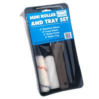 Mini Roller Tray Set - 2 Rad Sleeves (Emulsion and Foam) 4in