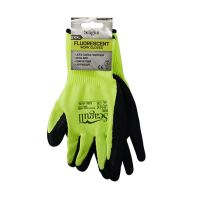 Seagull Gloves Latex Foam Coated Grip Fluorescent Size 10
