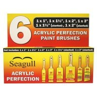 Seagull Acrylic Perfection Paint Brush Set of 6
