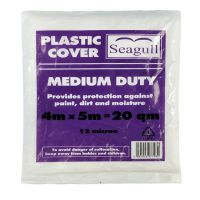 Seagull Plastic Dustsheet Medium Duty 4m x 5m