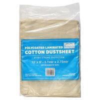 Seagull Polycoated Cotton Laminated Dustsheet 12ft x 9ft