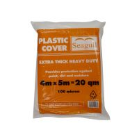 Seagull Plastic Dustsheet Extra Thick Heavy Duty 4m x 5m