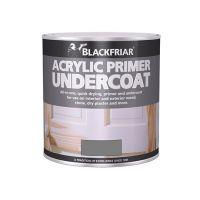 Blackfriar MDF Acrylic Primer Undercoat Paint Grey 500ml