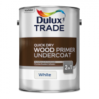 Dulux Trade Quick Dry Wood Primer Undercoat Paint White 5L