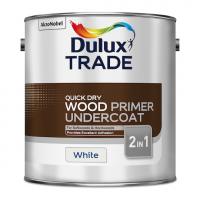 Dulux Trade Quick Dry Wood Primer Undercoat Paint White 2.5L