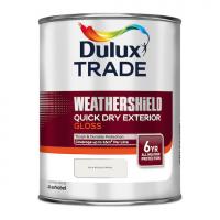 Dulux Trade Weathershield Quick Dry Exterior Gloss Pure Brilliant White 1L