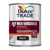 Dulux Trade Weathershield Exterior High Gloss Black 1L