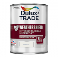 Dulux Trade Weathershield Exterior Undercoat Pure Brilliant White 1L