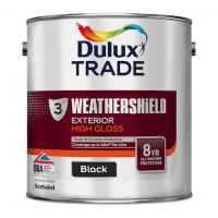 Dulux Trade Weathershield Exterior High Gloss Black 2.5L