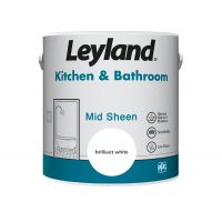 Leyland Kitchen & Bathroom Paint Brilliant White 2.5L