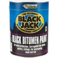 Everbuild Black Jack Bitumen Paint Black 5L