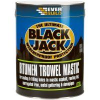 Everbuild Black Jack Bitumen Trowel Mastic Black 2.5L