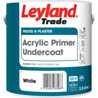 Leyland Trade Acrylic Primer Undercoat Paint White 2.5L