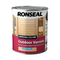 Ronseal Crystal Clear Outdoor Varnish Satin Clear 750ml