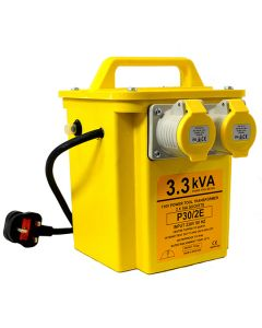 Transformer 110v - Twin Outlet 2x16A Sockets 3.3kVA