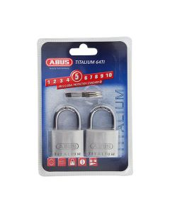 ABUS Titalium Key Alike Padlocks Pk2 40mm