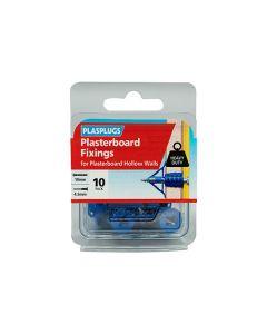 Plasplugs Plasterboard Fixings Blue 10mm Pack of 10