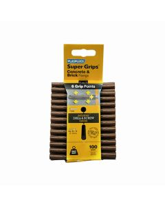 Plasplugs Super Grips Concrete Fixings Brown 7mm Pack of 100