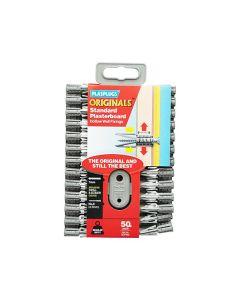Plasplugs Originals Plasterboard Fixings Grey 7mm Pack of 50
