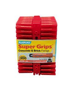 PLASPLUGS Red Super Grips Plugs Pk300 6mm