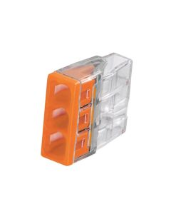 WAGO Terminal Connector - Pushwire Terminal Block Compact 3-Port 24A