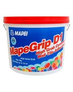 Mapei MapeGrip D1 High Grab Ceramic Wall Tile Adhesive 15kg