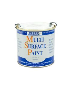 Bedec MSP Multi Surface Paint Satin Silver 250ml