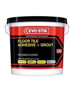 Evo-Stik Floor Tile Adhesive & Grout Wooden Floors Grey 5L