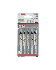 Bosch Jigsaw Blades T101B Wood & Laminate Pack of 5