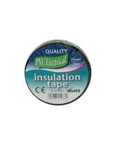 PVC Electrical Insulation Tape Black 19mm x 33m Roll