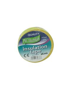 PVC Electrical Insulation Tape Green Yellow 19mm x 33m Roll