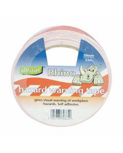 S/Adhesive Barrier Tape - Danger 33m Re-White