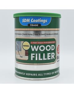 SDM COATINGS 2 Part Epoxy Wood Filler 1kg Natural
