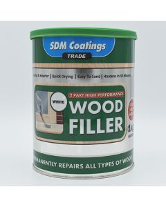 SDM COATINGS 2 Part Epoxy Wood Filler 1kg White