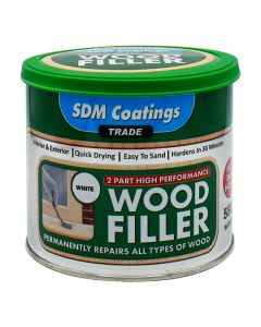 SDM COATINGS 2 Part Epoxy Wood Filler 550g White